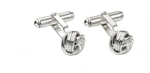 Solid Sterling Silver Knot Cufflinks